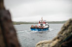 """""""Testfahrt"""" der reparierten Steueranlage im Hafen von Walls"""